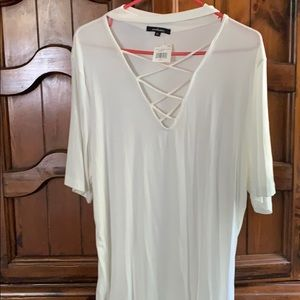 NWT. Ambiance Top. Ivory color
